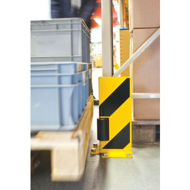 Warehouse Racking Protector - Right Angle With Rollers