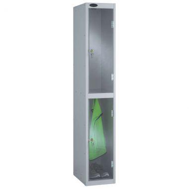 Clear Door Lockers - 2 Compartments