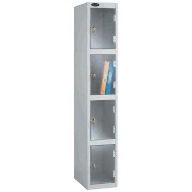 Clear Door Lockers - 4 Compartments