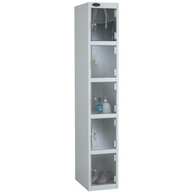 Clear Door Lockers - 5 Compartments