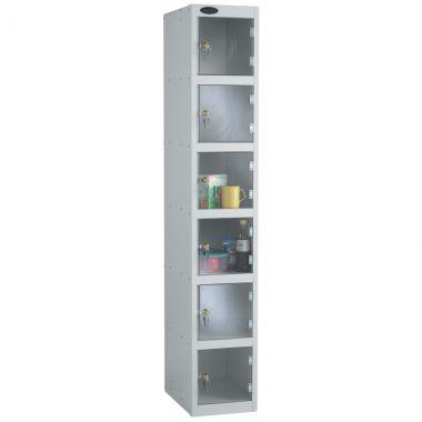 Clear Door Lockers - 6 Compartments