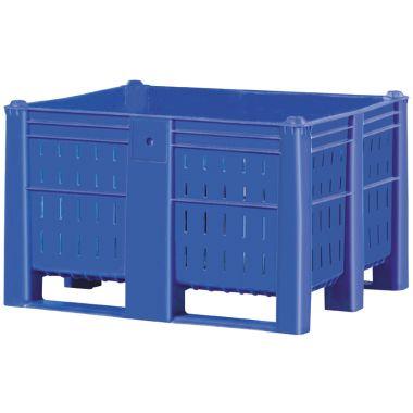 Plastic Pallet Boxes – 600 Litre (Vented)