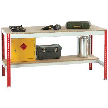 Economic Workbench - Chipboard Top & Half Shelf