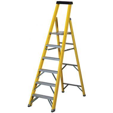 Fibre Glass Industrial Platform Ladder