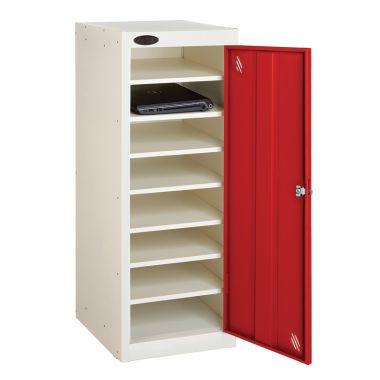 Single Door Laptop Storage Locker - Eight Shelf