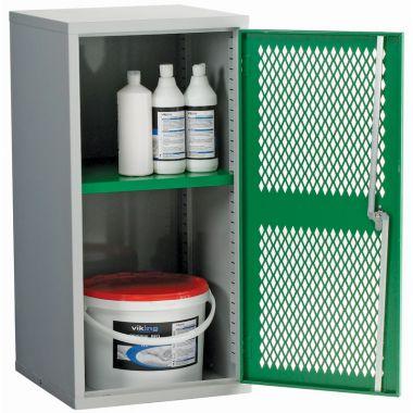 Single Door Industrial Mesh Cupboard - Small