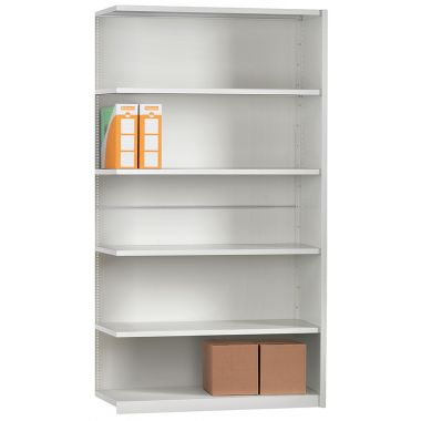 Office Shelving - Six Shelf Extension Unit Fully Clad