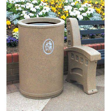 Outdoor Litter Bin – Open Top