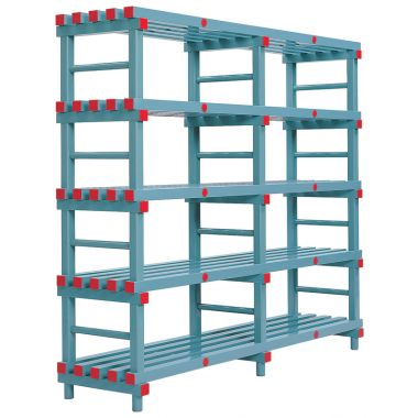 Hygienic Plastic Shelving - Five Shelves