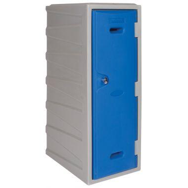 Large plastic locker angled