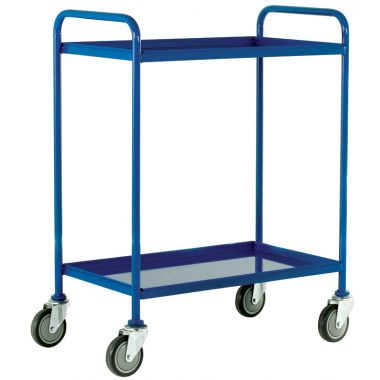 Two Tier Tray Trolley - Steel Shelves (Large)