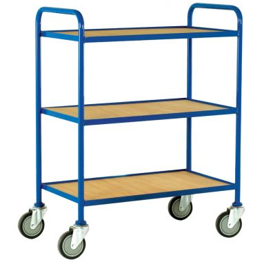 Three Tier Tray Trolley - Plywood Shelves (Large)