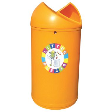 Twisted Top Litter Bin – Frog Logo