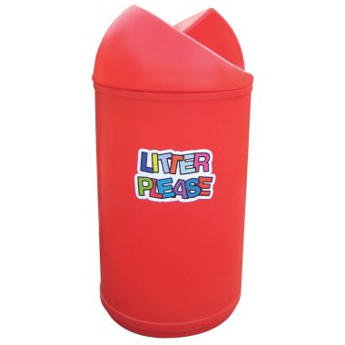 Twisted Top Litter Bin – Litter Please Logo