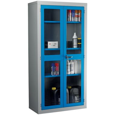 Double Door Industrial Clear Front Cabinet - Large