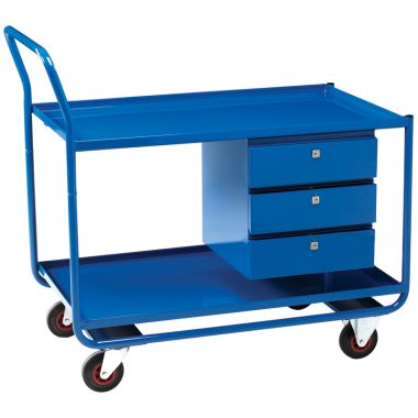 Workshop Trolley - Two Tier (Three Drawers)