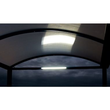 General Purpose Walkway Shelter with Built-in Lights