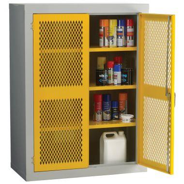 Double Door Industrial Mesh Cupboard - Medium