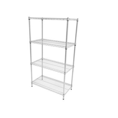 Wire Mesh Antibaceterial Shelving - 4 shelf