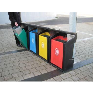Provincial Litter Bin (Set of Four)