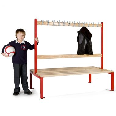 School Cloakroom Island Seating - Double Sided