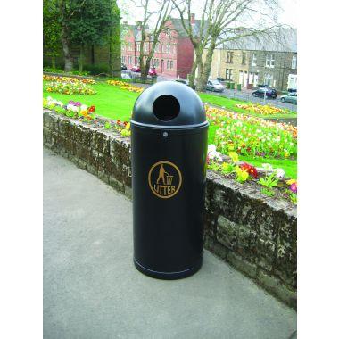 Outdoor Litter Bin - Slimline