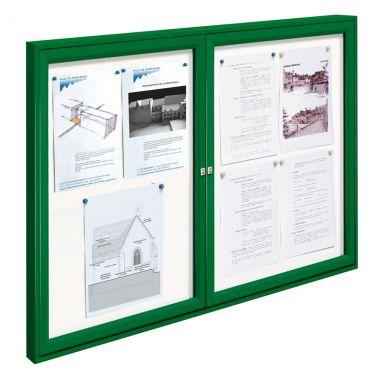Double Door Display Cases - Painted Frame