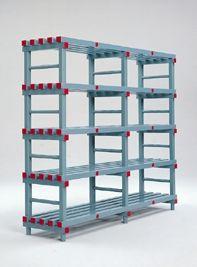 Hygienic Plastic Shelving - Six Shelves