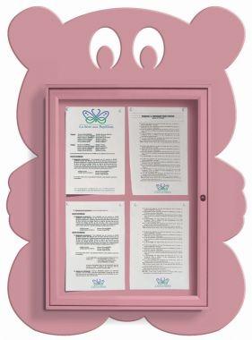 Wall Mounted Fun Notice Board - Teddy Bear