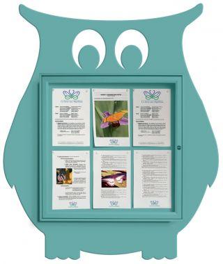 Wall Mounted Fun Notice Board - Owl