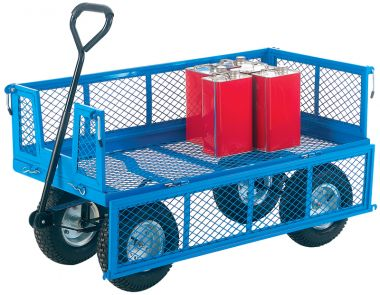Flat-Bed Truck With Folding Sides - Mesh Base