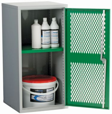 Single Door Industrial Mesh Cupboard - Small