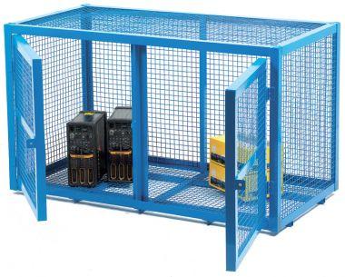 Double Door Mesh Security Cage - Small