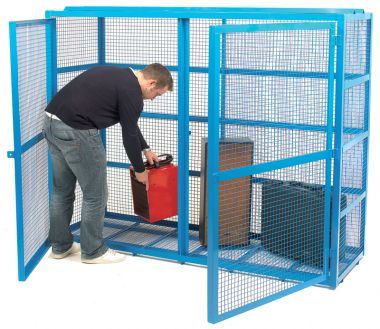 Double Door Mesh Security Cage - Large