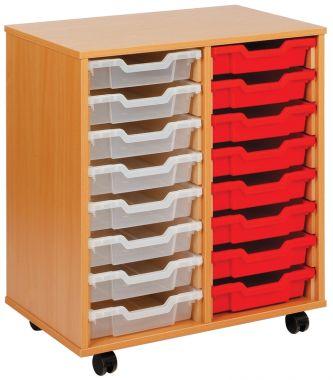 Tray Storage Unit - Sixteen Shallow Trays