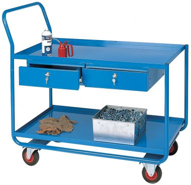 Workshop Trolley - Two Tier (Two Drawers)