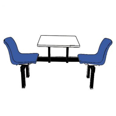Canteen Table - Two Chairs (Single Access)