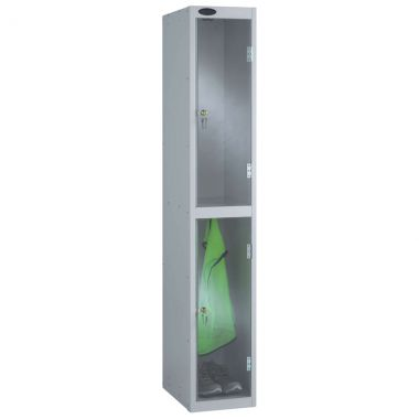 Clear Door Lockers - 2 Compartments