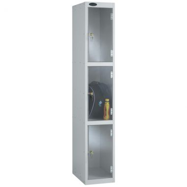 Clear Door Lockers - 3 Compartments