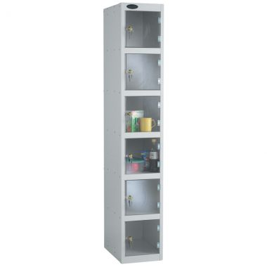 Clear Door Lockers - 6 Compartments