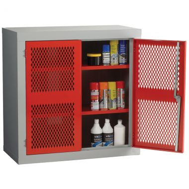 Double Door Industrial Mesh Cupboard - Standard