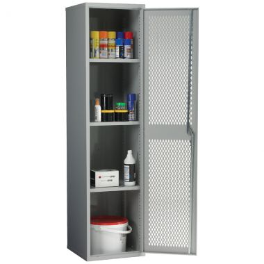 Single Door Industrial Mesh Cupboard - Tall
