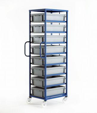Mobile Tray Rack – 8 Medium Trays