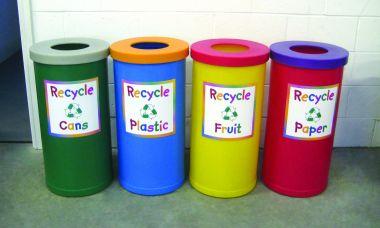 Recycling Bin - Junior Style (Open Top)