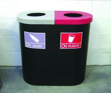 Twin Recycling Bin (Open Top)