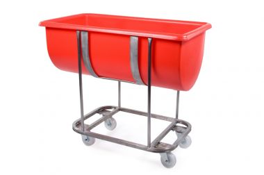 Plastic Trough with Stainless Steel Frame - 135 Litre - RM135FSS