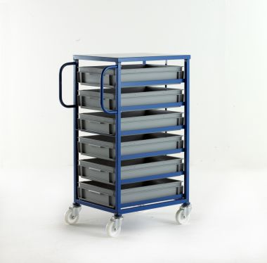 Mobile Tray Racks – 6 Shallow Trays