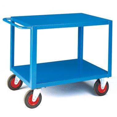 Two Tier Heavy Duty Table Trolley - Steel Top (Large)