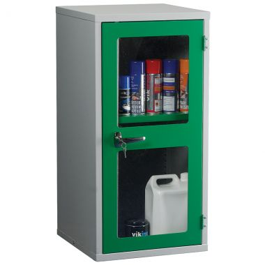 Single Door Industrial Clear Front Cabinet - Small