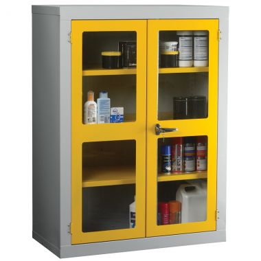 Double Door Industrial Clear Front Cabinet - Medium